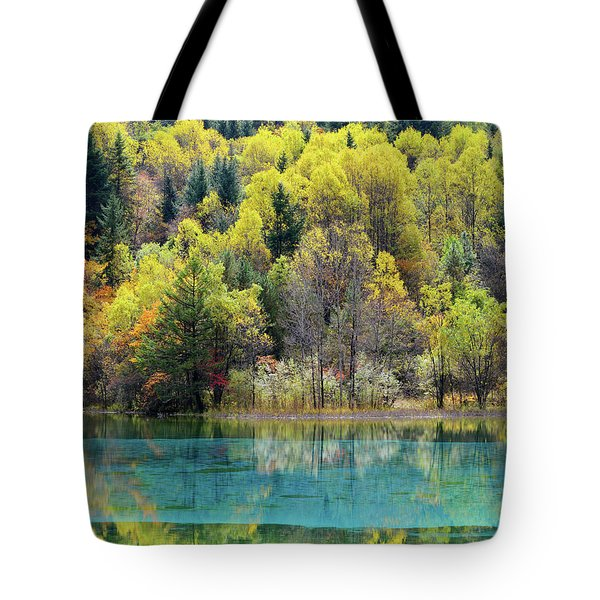 Tote Bag featuring the photograph Jiu Zhai Vally by Yue Wang