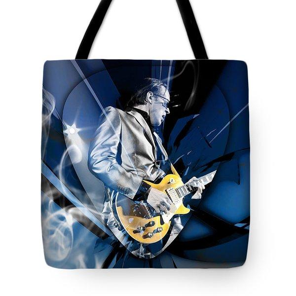 Joe Bonamassa Blues Guitarist Tote Bag by Marvin Blaine