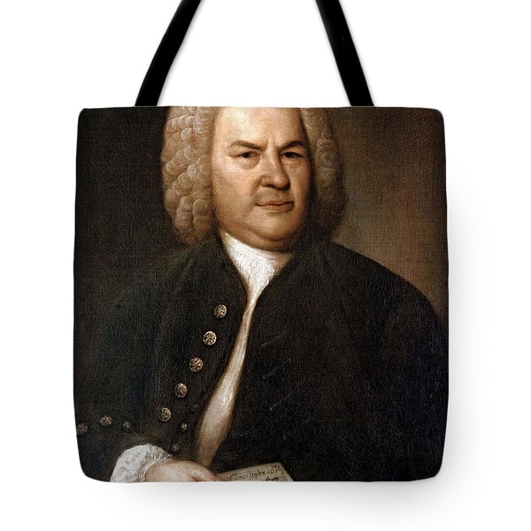 Johann Sebastian Bach, German Baroque Tote Bag