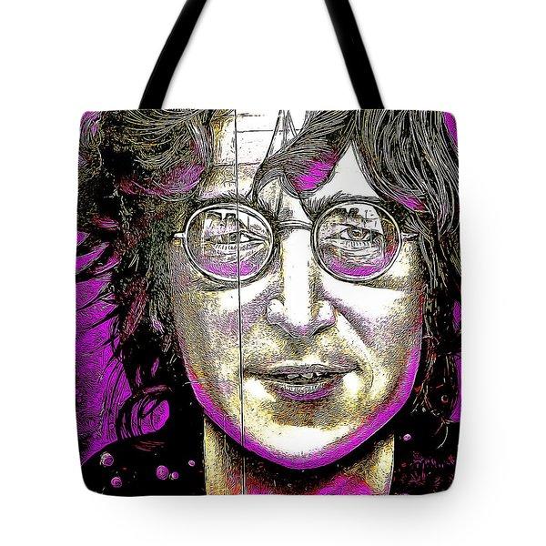 John Lennon Abstract Tote Bag