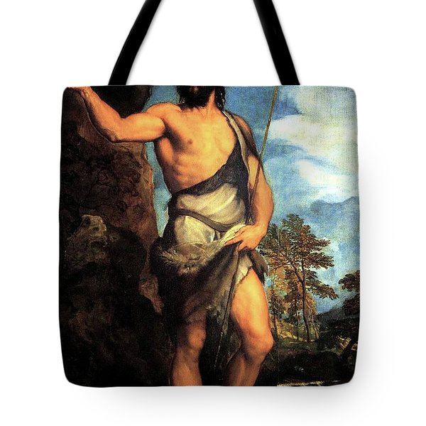 John The Baptist Tote Bag