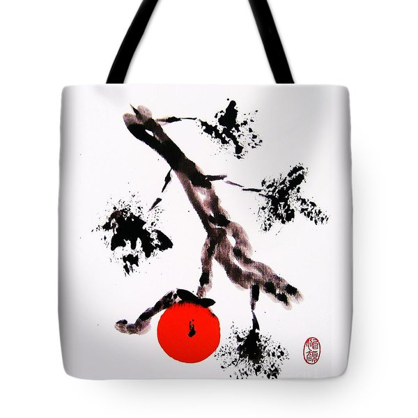 Tote Bag featuring the painting Jukushita Kaki by Roberto Prusso