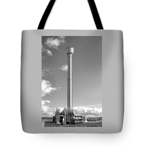 Jurassic Skyline Eye Tower  Tote Bag by Baggieoldboy