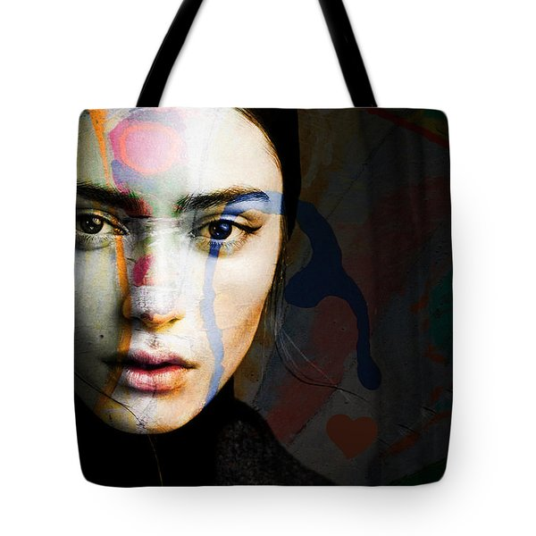 Tote Bag featuring the mixed media Just Like A Woman by Paul Lovering