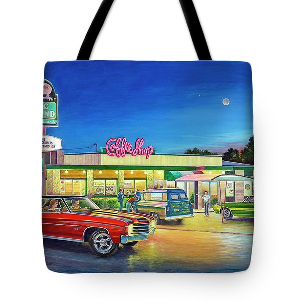 Muscle Car Cruise Night Tote Bag