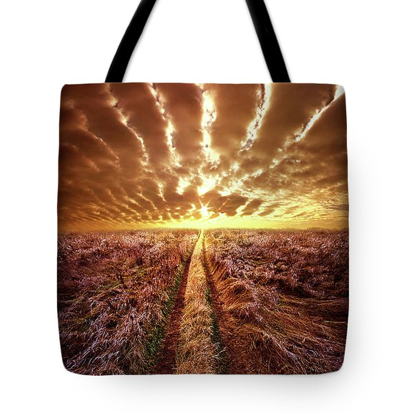 Tote Bag featuring the photograph Just Over The Horizon by Phil Koch