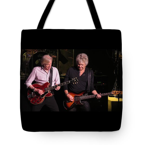 Tote Bag featuring the photograph Justin And John In Concert 3 by Melinda Saminski