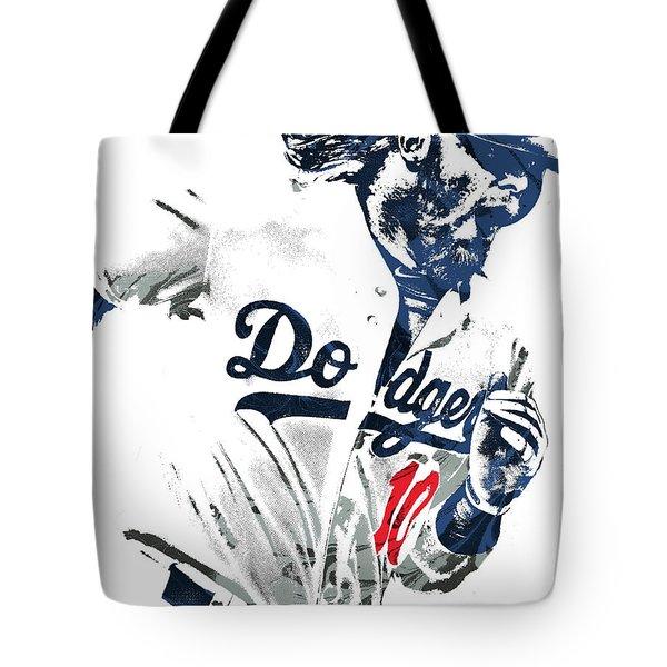 Justin Turner Los Angeles Dodgers Pixel Art Tote Bag