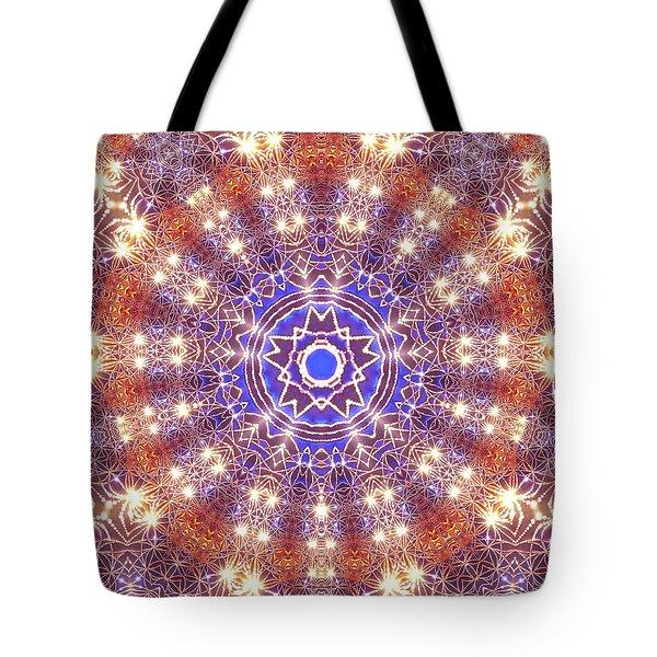 Tote Bag featuring the digital art Jyoti Ahau 10 by Robert Thalmeier