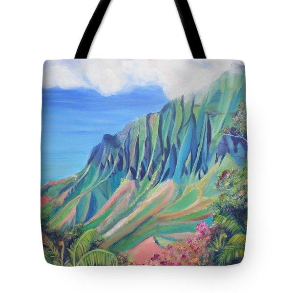 Kalalau Valley Tote Bag