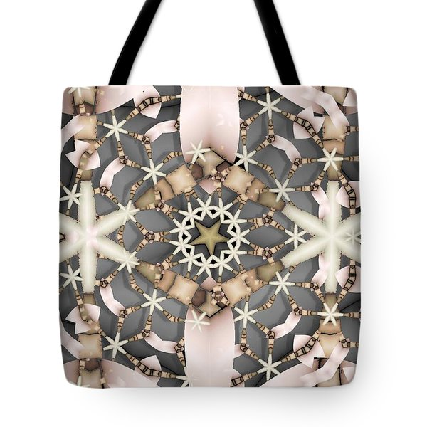 Tote Bag featuring the digital art Kaleidoscope 97 by Ron Bissett