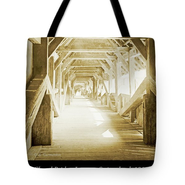 Kapell Bridge, Lucerne, Switzerland, 1903, Vintage, Photograph Tote Bag