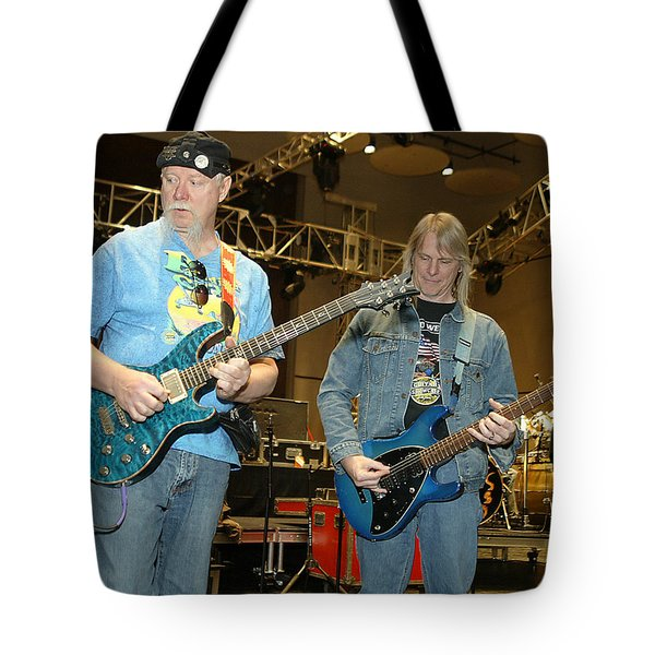Tote Bag featuring the photograph Kerry Livgren And Steve Morse Kansas by Don Olea