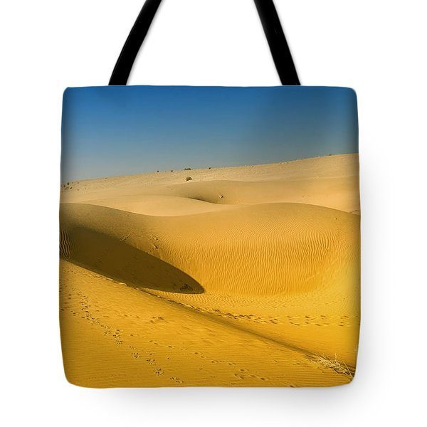 Tote Bag featuring the photograph Khuri Desert by Yew Kwang