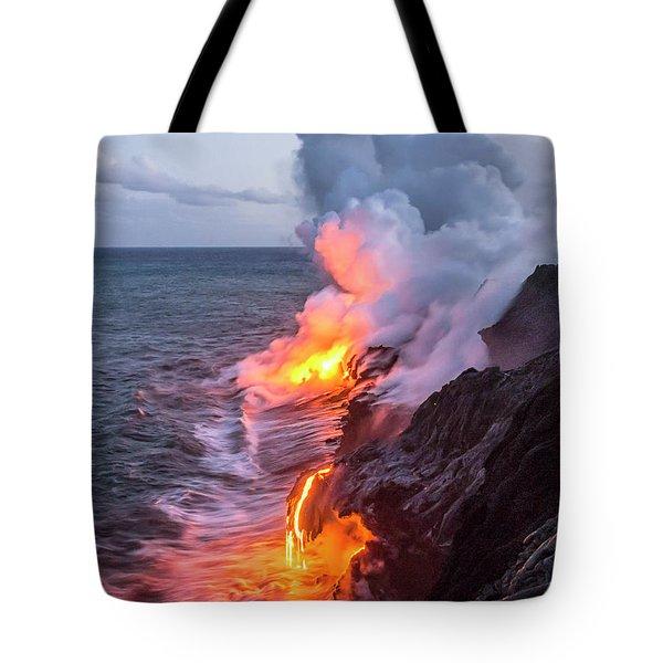 Kilauea Volcano Lava Flow Sea Entry 7 - The Big Island Hawaii Tote Bag