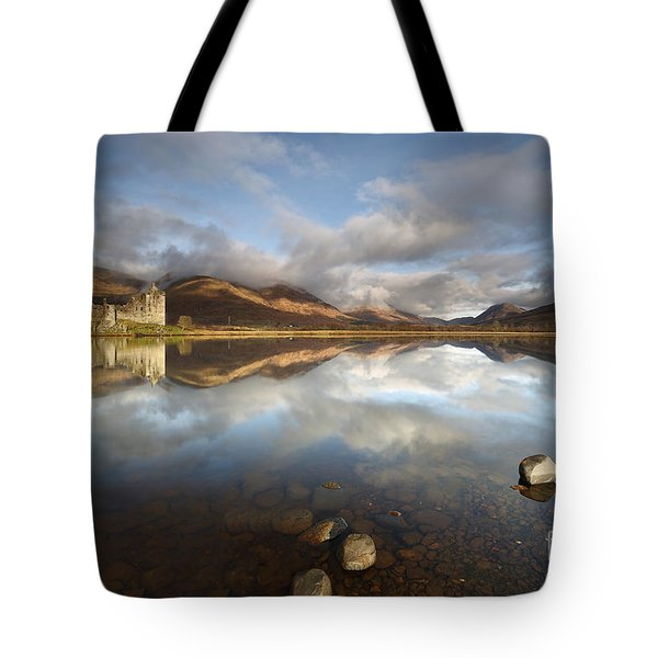 Tote Bag featuring the photograph Kilchurn Castle by Maria Gaellman