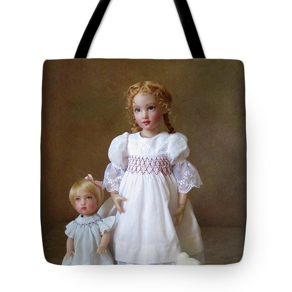 Tote Bag featuring the photograph Kindhearted Kish Dolls by Nancy Lee Moran