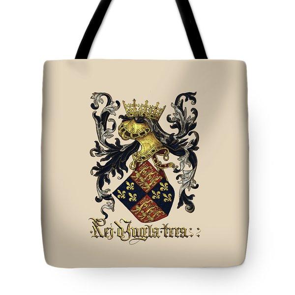 King Of England Coat Of Arms - Livro Do Armeiro-mor Tote Bag by Serge Averbukh