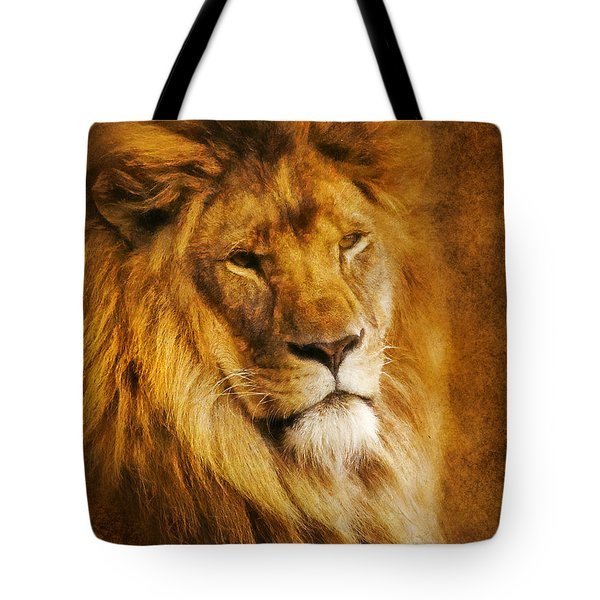 Tote Bag featuring the digital art King Of The Beasts by Ian Mitchell