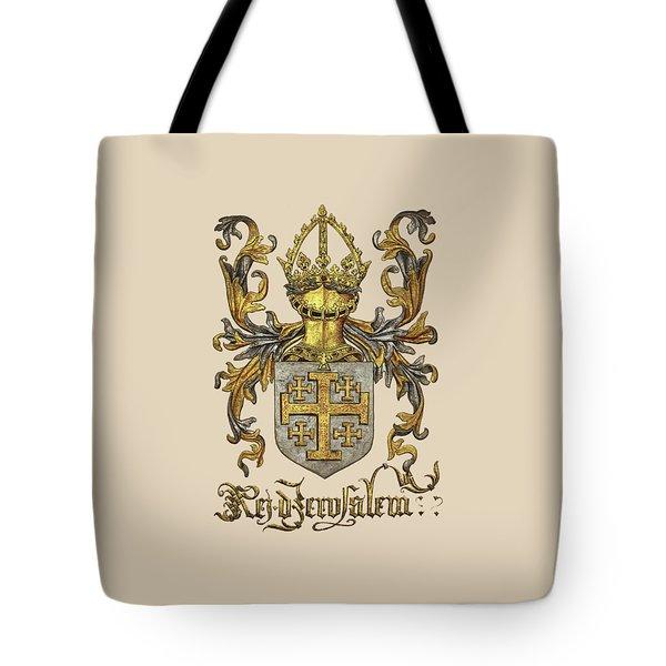 Kingdom Of Jerusalem Coat Of Arms - Livro Do Armeiro-mor Tote Bag by Serge Averbukh