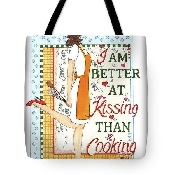 Kissing Cooking Tote Bag