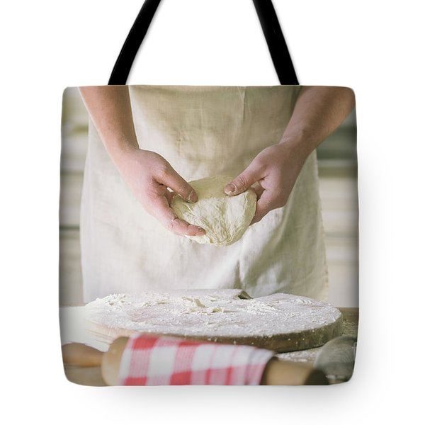 Kneading And Making Dough Tote Bag