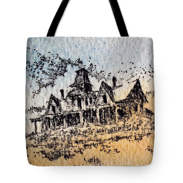 Knippenberg Mansion Glendale Ghost Town Montana Tote Bag by Kevin Heaney