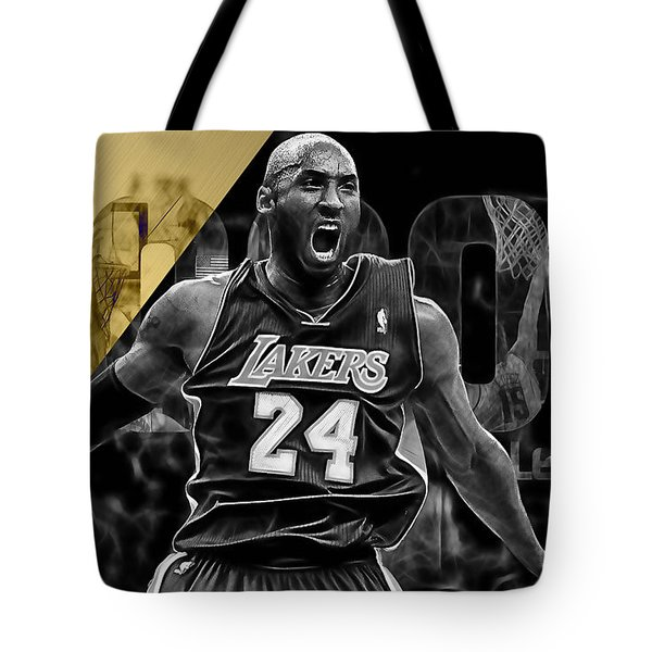 Kobe Bryant Collection Tote Bag by Marvin Blaine