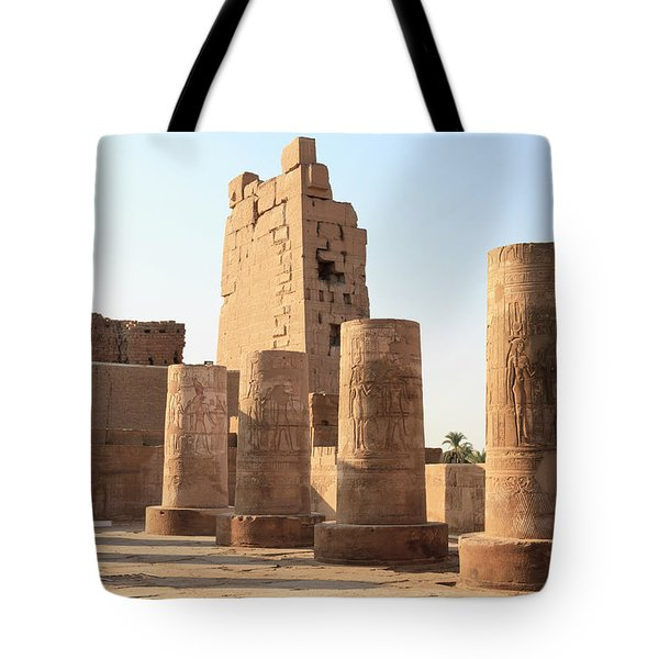 Tote Bag featuring the photograph Kom Ombo by Silvia Bruno