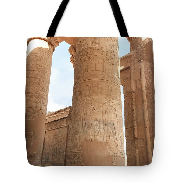 Tote Bag featuring the photograph Kom Ombo Temple by Silvia Bruno
