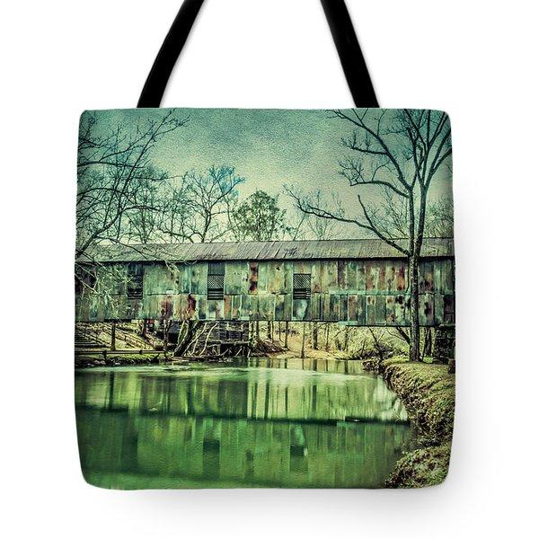 Kymulga Covered Bridge Tote Bag by Phillip Burrow