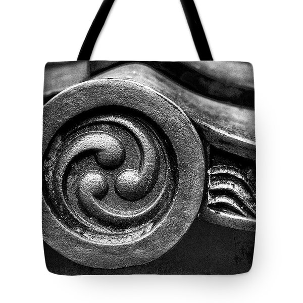 Kyoto Temple Roof Tile Detail Tote Bag
