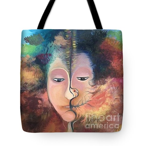 La Fille Foret Tote Bag by Art Ina Pavelescu