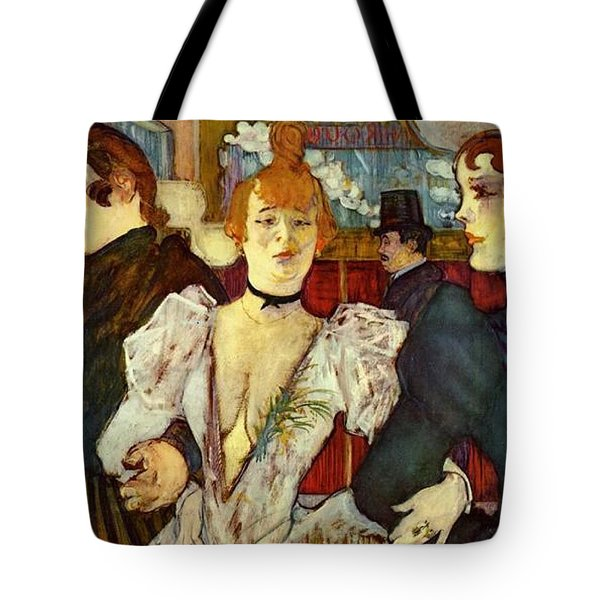 La Goulue Arriving At The Moulin Rouge With Two Women Tote Bag