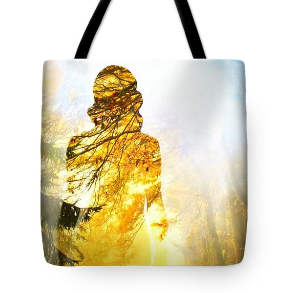 Lady Autumn Tote Bag by Lilia D