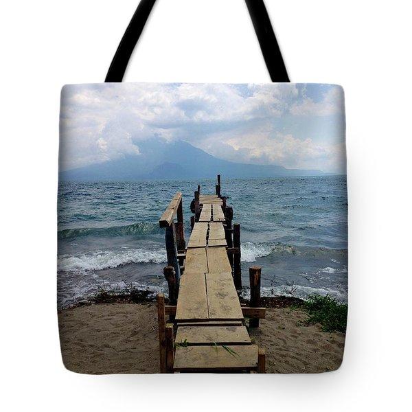 Lake Atitlan Dock Tote Bag