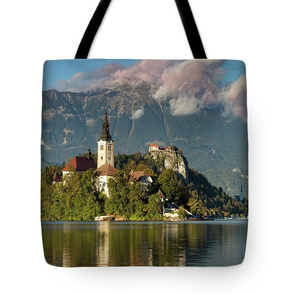 Tote Bag featuring the photograph Lake Bled by Brian Jannsen