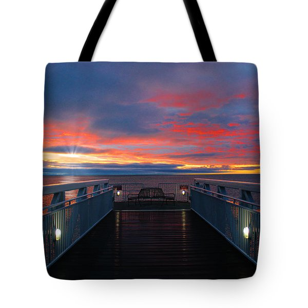Lake Huron Sunrise Tote Bag