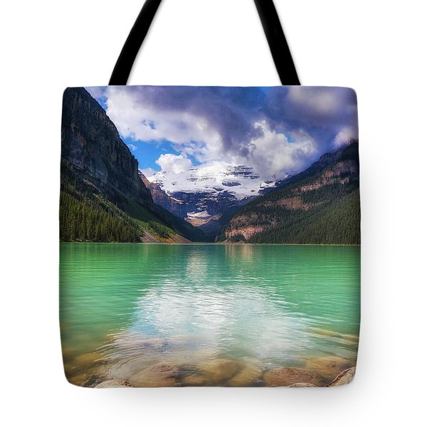 Lake Louise Is Really Green Tote Bag