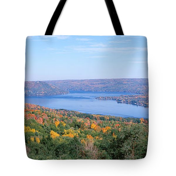 Lake Surrounded By Hills, Keuka Lake Tote Bag