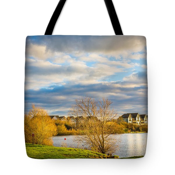 Tote Bag featuring the photograph Lake View by Gary Gillette