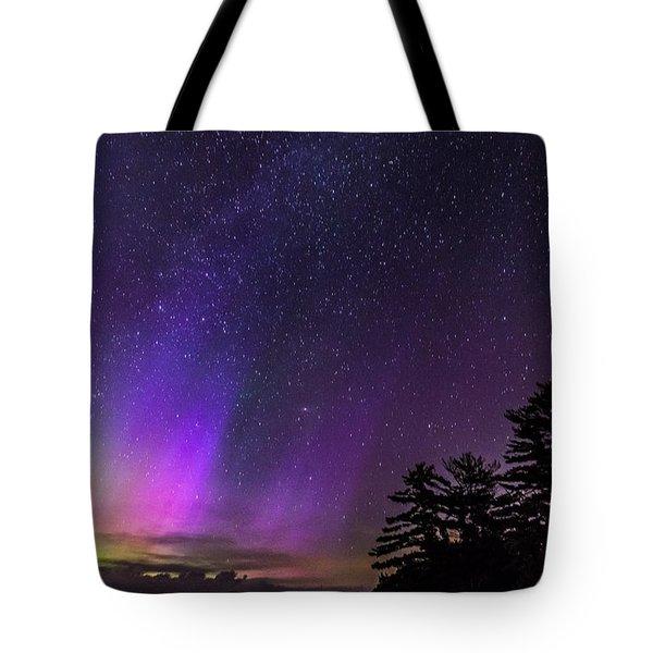 Lake Winnipesaukee Aurora Borealis Tote Bag