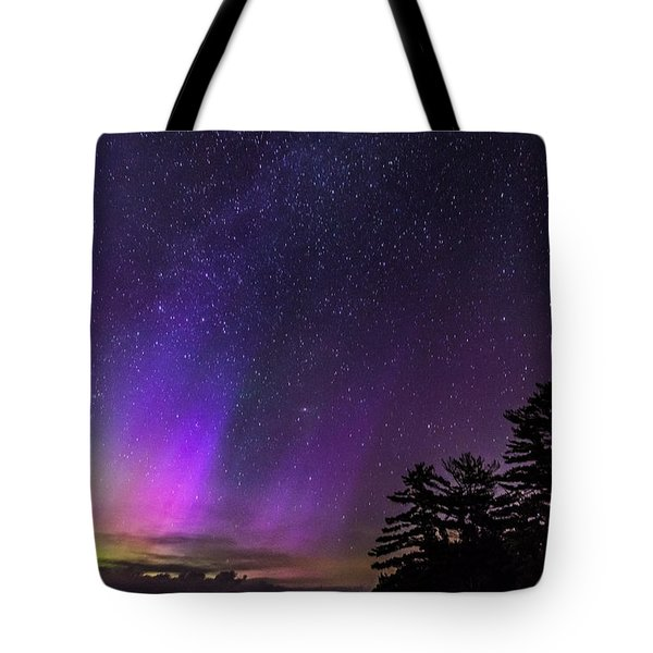 Lake Winnipesaukee Aurora Borealis Tote Bag