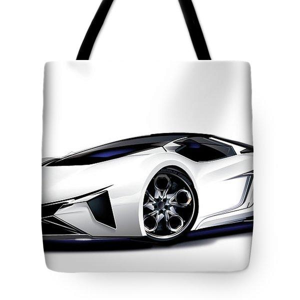 Tote Bag featuring the digital art Lamborghini by Brian Gibbs