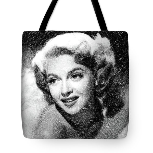 Lana Turner, Vintage Actress By Js Tote Bag