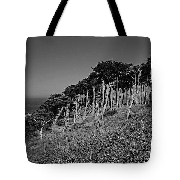 Lands End In San Francisco Tote Bag