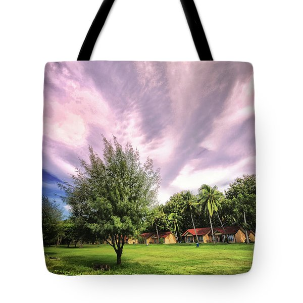 Tote Bag featuring the photograph Landscape  by Charuhas Images