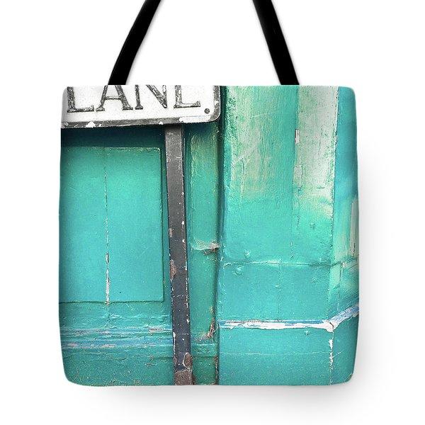 Lane Sign Tote Bag