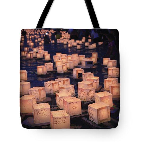 Lantern Ceremony Tote Bag by Brandon Tabiolo - Printscapes
