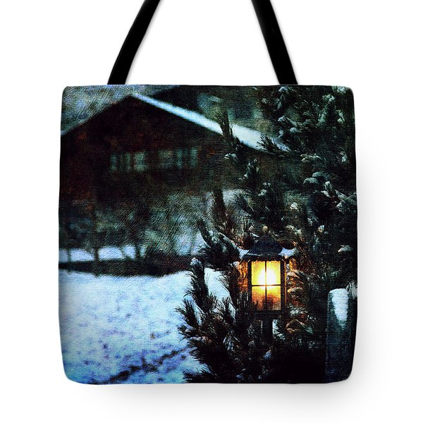 Lantern In The Woods Tote Bag